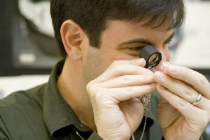 Jeweler with Loupe